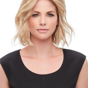 Black And Blond Easipart French Human Hair Topper Half