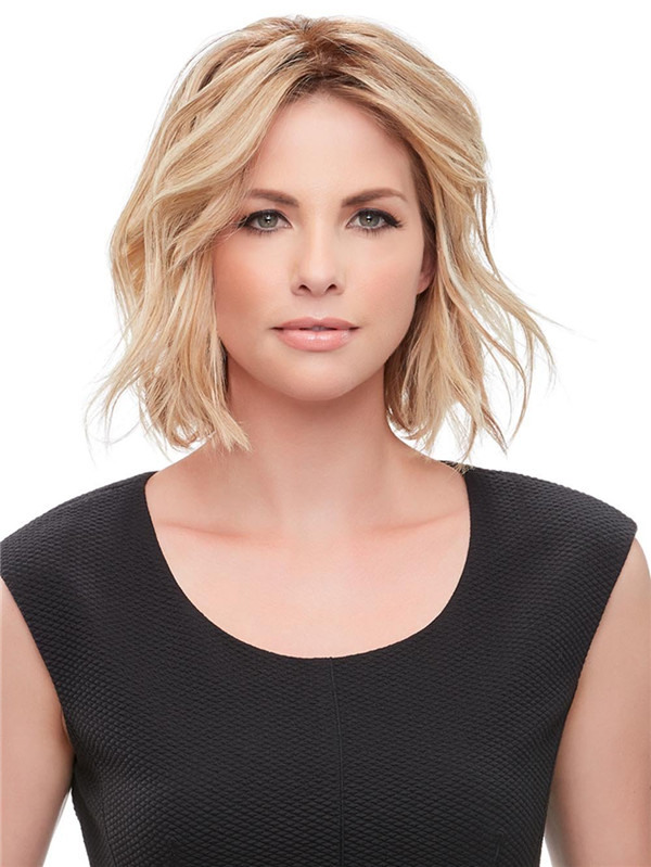 Blond And Brown Easipart Human Hair Topper All Hairpieces