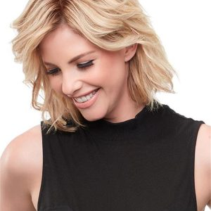 Black And Blond Easipart French Remy Human Hair Topper Half