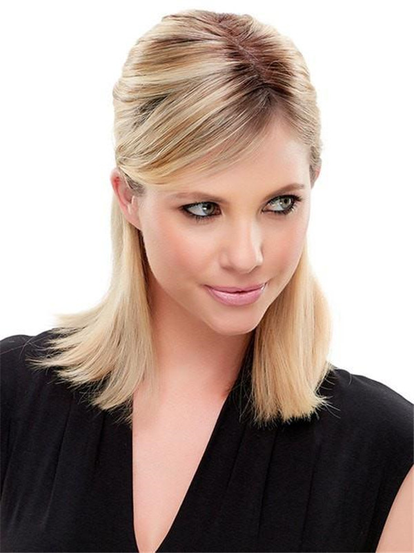 Easipart Remy Human Hair Topper Half All Hairpieces