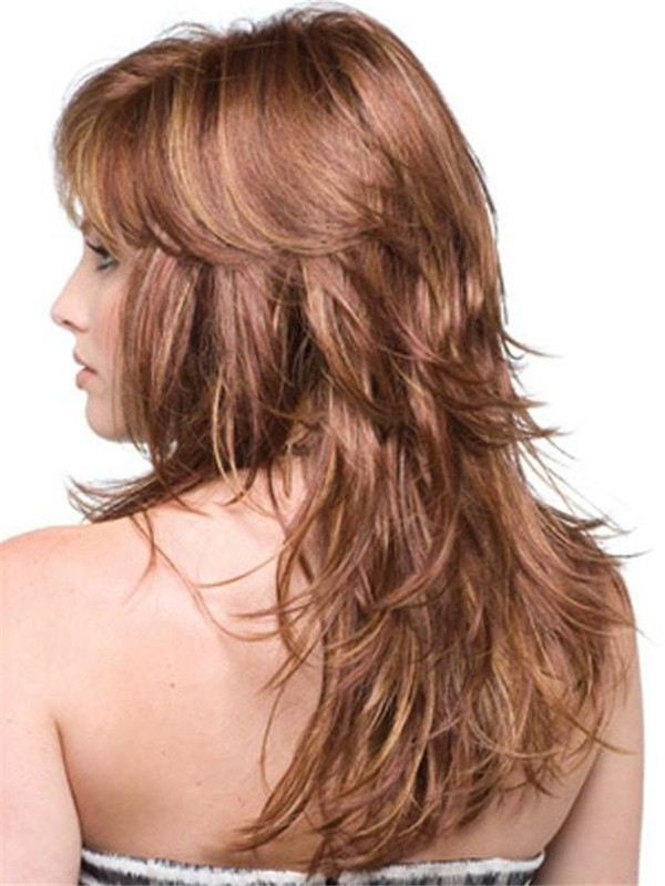 Red And Blonde Felicity Synthetic Wig Basic Cap For Women