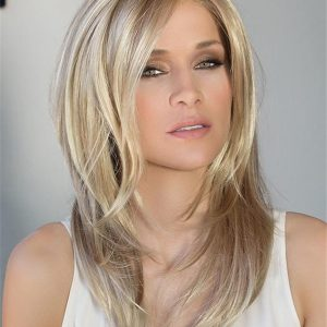 Blonde And Red Fortune Synthetic Lace Front Wig For Women