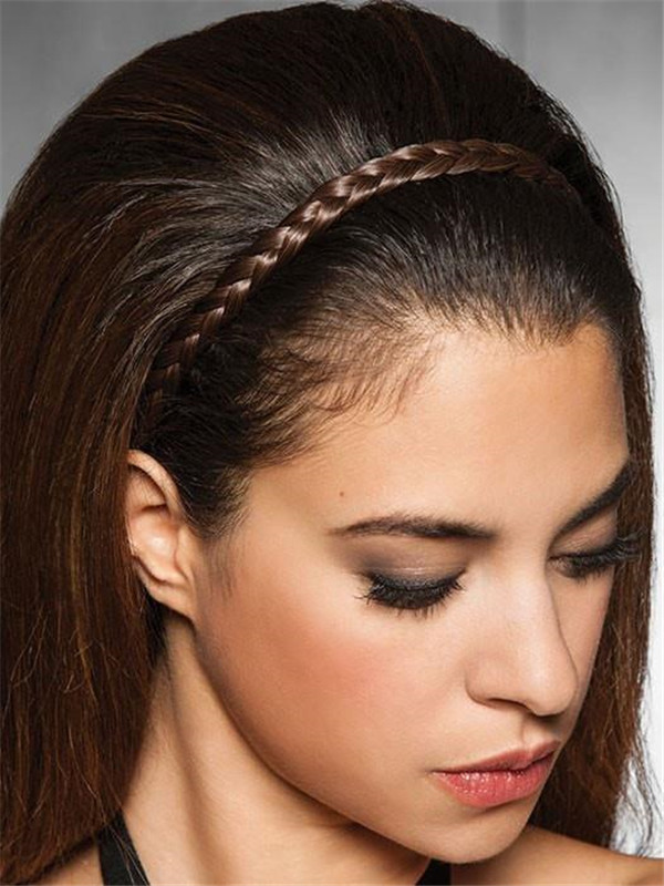Blond Braid Band Synthetic Headband All Hairpieces