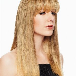 Blond And Brown Fringe Top Synthetic Hair Topper