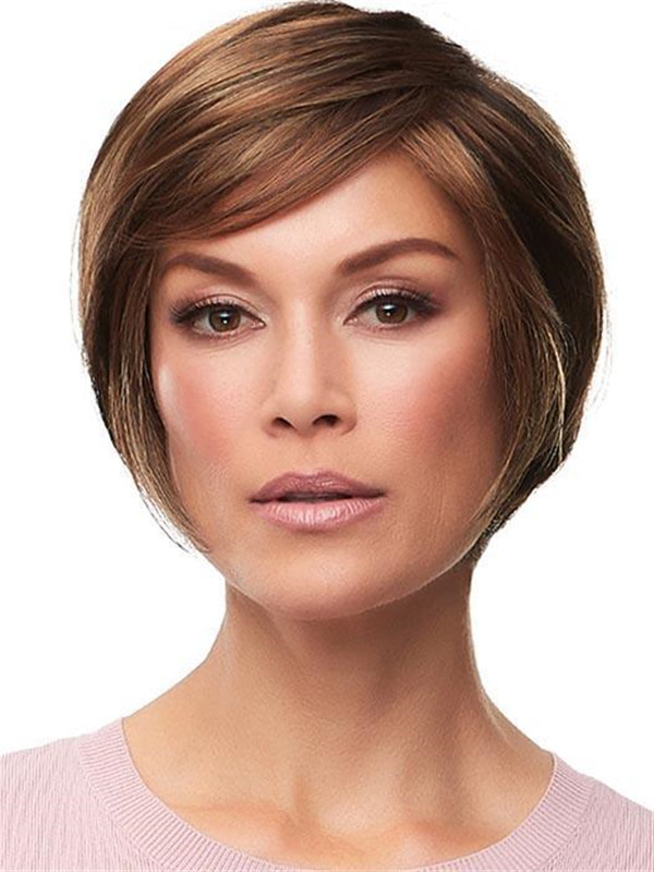 Black And Blonde Synthetic Lace Front Wig For Women