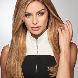 Black And Blond Gilded Human Hair Top Piece Half