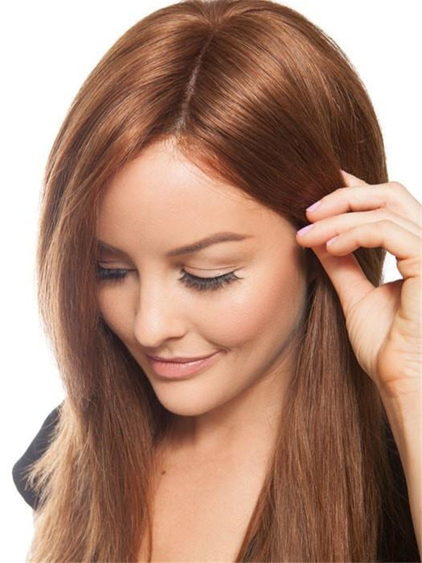 Black And Blonde Grand Human Hair Lace Front Wig For Women