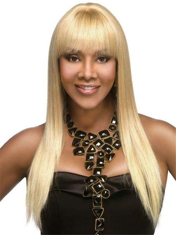 Red And Black H-157 Human Hair Wig For Women