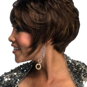 Black Human Hair Wig Basic Cap For Women