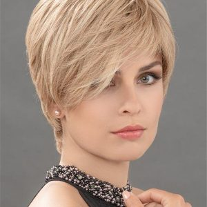 Blond And Brown Hanna Human Hair Top Piece Half Rooted