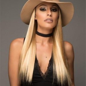 Black And Blond Hat Magic Synthetic Hair Addition