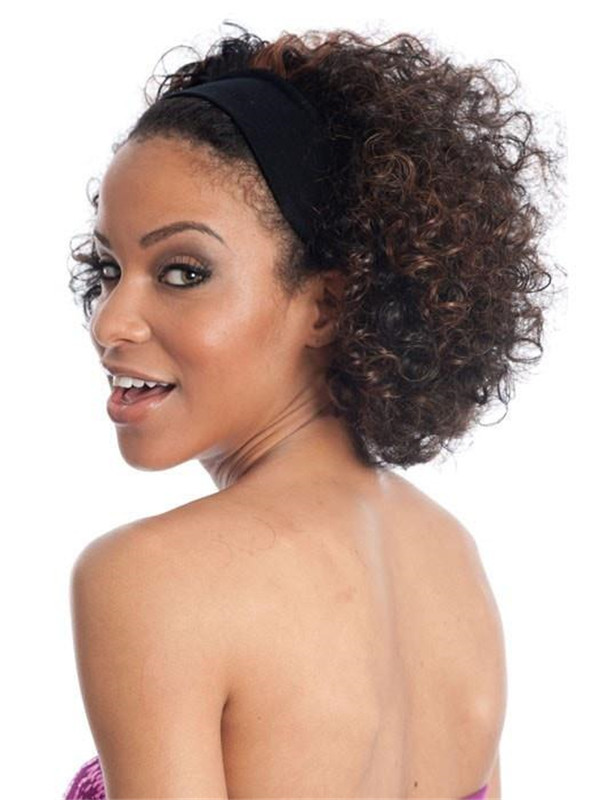 Black And Grey Hb Synthetic Hair Piece Headbands