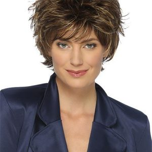 Blonde And Gray Synthetic Wig Basic Cap For Women