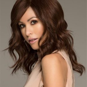 Black And Red Isabella Human Hair Wig For Women