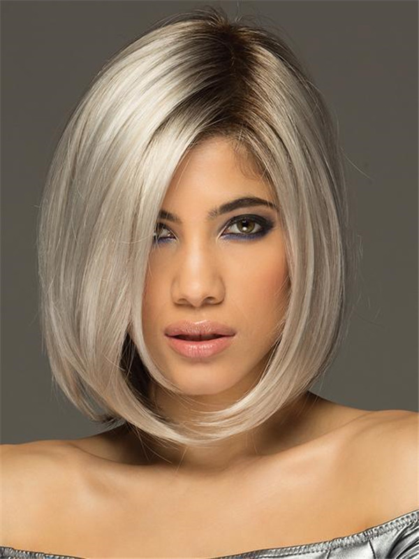 Blonde Straight Synthetic Lace Front Wig For Women