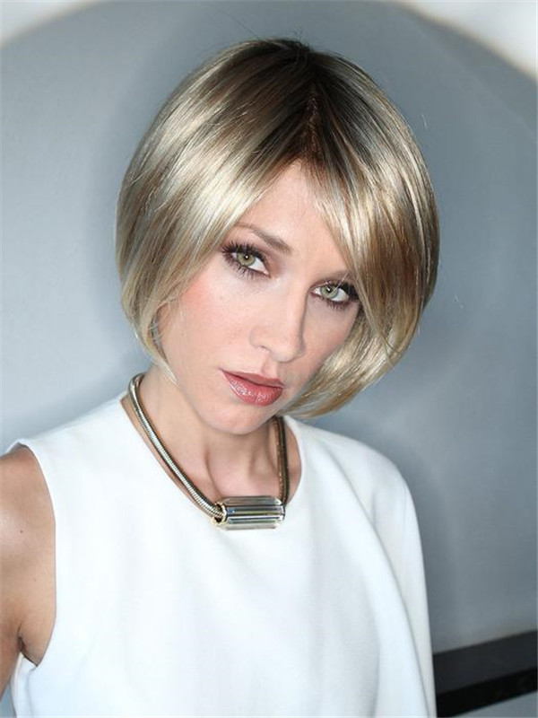 Blond And Brown Just Synthetic Hair Topper Half Falls