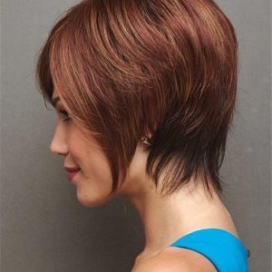 Blonde And Red Synthetic Wig Basic Cap For Women