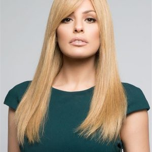 Blonde And Red Lea Renau Exclusive Human Hair Wig For Women