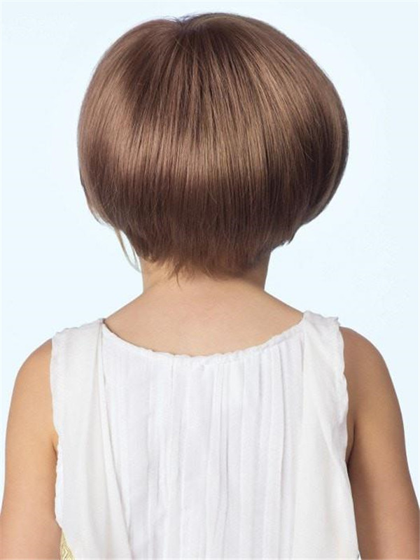 Blond And Brown Logan Synthetic Lace Front Wig Mono Top Kids