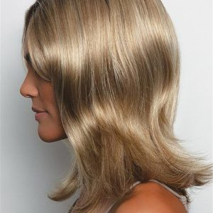 Blonde Lucy Synthetic Wig Rooted For Women