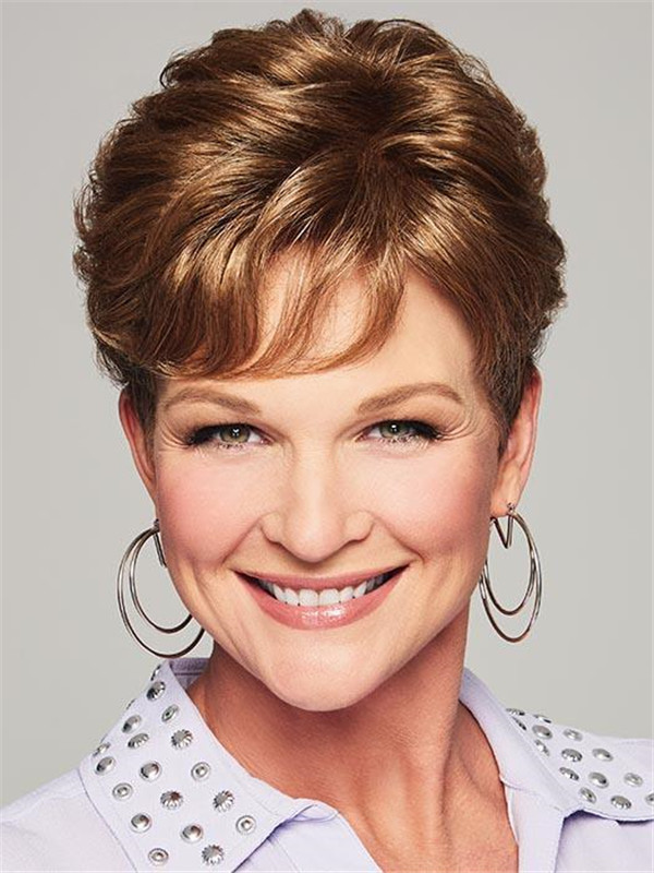 Brown Lyric Synthetic Hair Topper Half All Hairpieces