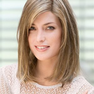 Blond Matrix Human Hair Topper With Lace Front Half