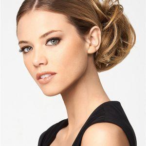 Blond Modern Synthetic Hair Bun Clip On All Hairpieces