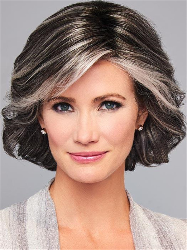 Black And Blonde Modern Synthetic Lace Front Wig For Women