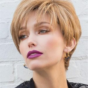 Blond Modern Top Piece Synthetic Hair Topper Half