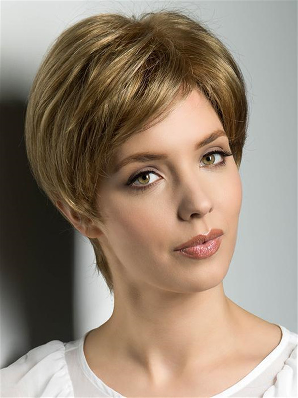 Black And Blond Wiglet Synthetic Hair Piece Half