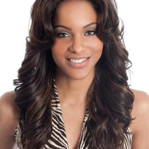 Black Synthetic Lace Front Wig Basic Cap For Women