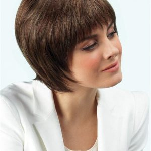 Gray And Red Natasha Synthetic Wig For Women