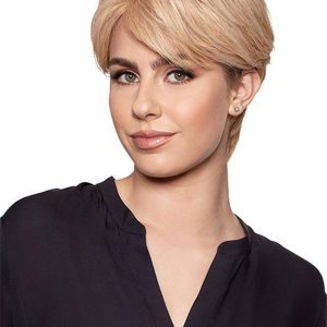 Blond And Brown Half Remy Human Hair Lace Front Top Piece