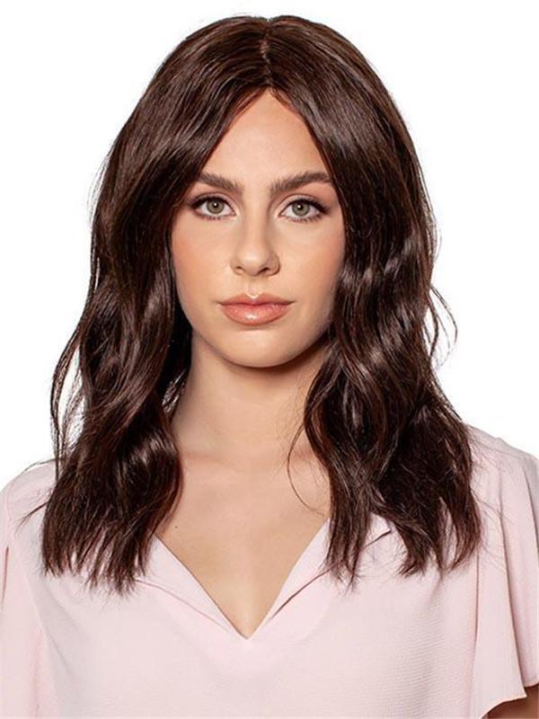 Blond And Brown Natural Human Hair Top Piece Half