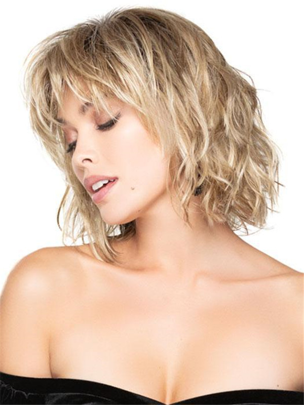 Black And Blonde New Synthetic Lace Front Wig For Women