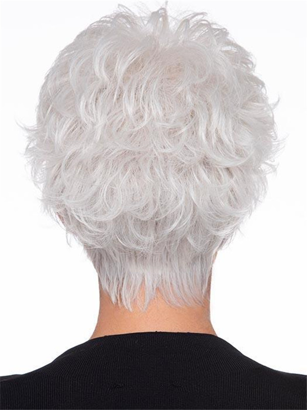 Black And Blonde Human Hair Synthetic Blend Wig For Women