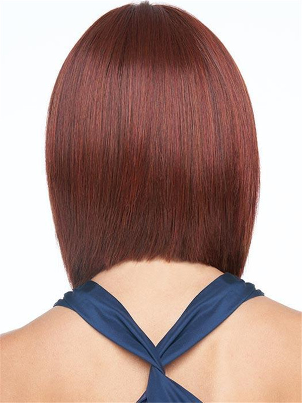 Red And Blonde Synthetic Lace Front Wig Rooted For Women
