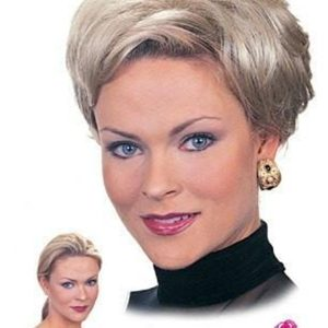 Blond And Brown Playmate Straight Synthetic Hair Topper Half