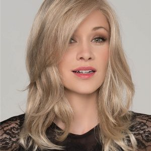 Blond And Brown Pleasure Human Hair Top Piece Half