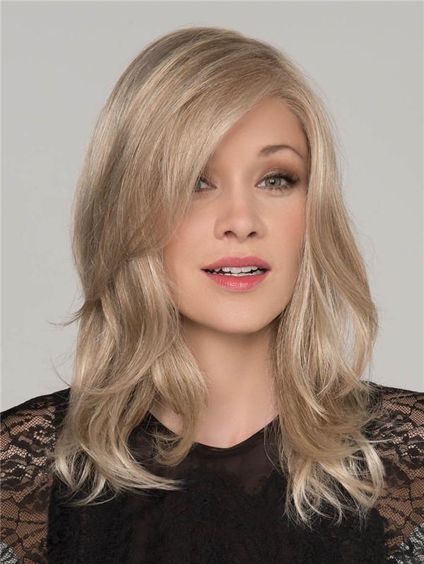 Blond And Brown Pleasure Human Hair Top Piece Half