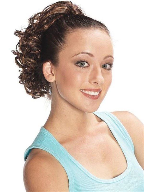 Brown And Blond Pony Curl Synthetic Ponytail All Hairpieces