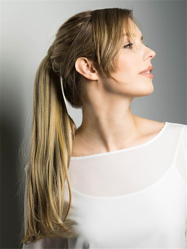 Black And Blond Pony Wrap Synthetic Hair Piece Ponytails