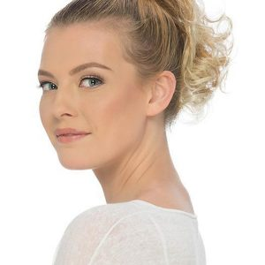 Blond And Brown Ponytail Synthetic Clip On Hairpiece