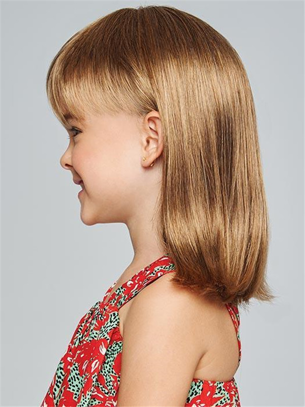 Blonde And Black Pretty In Synthetic Hf Wig For Kid