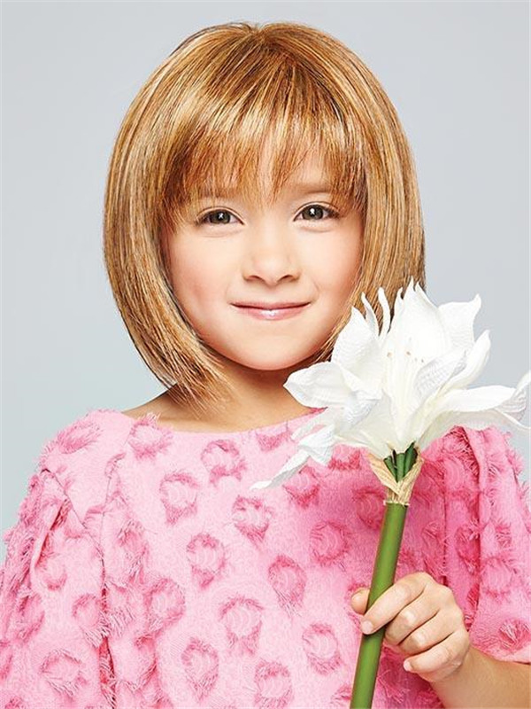 Red And Blonde Pretty In Synthetic Hf Wig For Kid