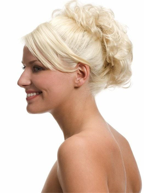 Gray Pull Thru Synthetic Hair Wrap Half All Hairpieces