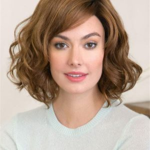 Red And Blonde Synthetic Lace Front Wig Curly For Women