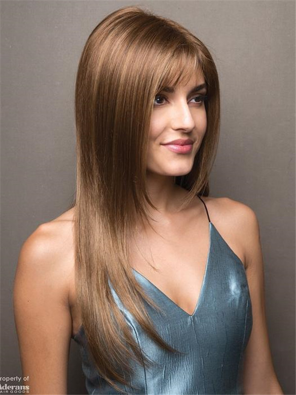 Blonde And Red Robin Synthetic Wig Basic Cap For Women