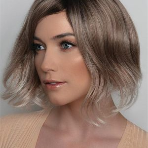 Blonde And Black Synthetic Lace Front Wig For Women