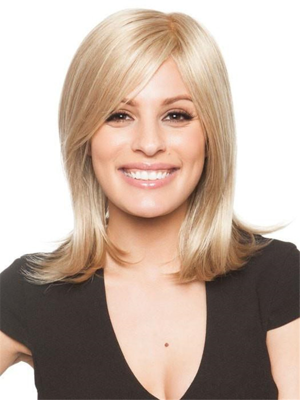 Blonde Samantha Synthetic Wig Rooted For Women